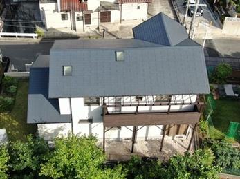 屋根 JPM フッ素UVコート 木部 キシラデコールで塗り替えさせていただきました。