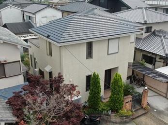 外壁 山本窯業 ネオフレシュティアラS 屋根 JPM フッ素UVコートで塗り替えさせていただきました。