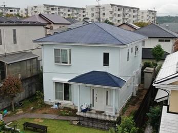 外壁 アステックペイント リファインSi 屋根 JPM 遮熱無機UVコートで塗り替えさせていただきました。