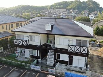 外壁 アステックペイント シリコンREVO1000 屋根 日本ペイント ファインシリコンベストで塗り替えさせていただきました。