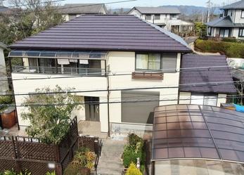 外壁 アステックペイント リファインMF 屋根 JPM フッ素UVコートで塗り替えさせていただきました。