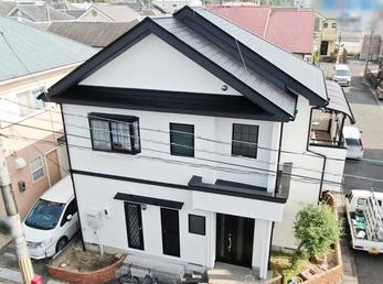 外壁 日本ペイント パーフェクトトップ 屋根 JPM フッ素UVコートで施工させていただきました。