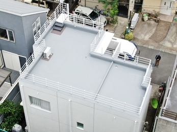 田島ルーフィング 絶縁ウレタン防水 施工させていただきました。