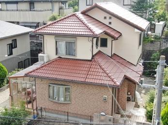 外壁 日本ペイント パーフェクトトップ 大同塗料マイルドシリコン