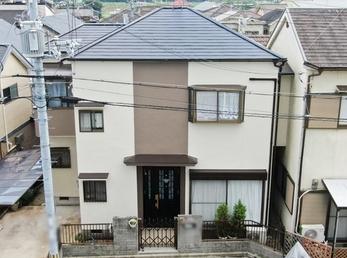 外壁 日本ペイント パーフェクトトップ 屋根 日本ペイント パーフェクトベストで施工させていただきました。
