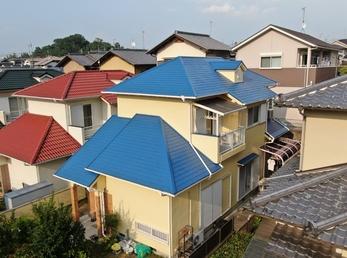屋根 JPNフッ素UVコート、外壁 日本ペイント パーフェクトトップで施工させていただきました。