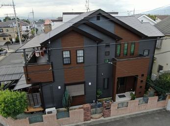 屋根  JPN無機UVコート、外壁 アステックリファインSiで施工させていただきました。