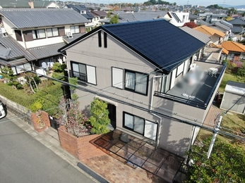 外壁 アステックペイント シリコンREVO1000 屋根 大同塗料 マイルドシリコンで施工させていただきました。