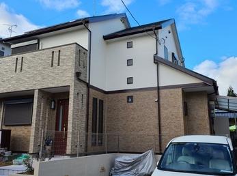 屋根  JPN無機UVコート、外壁 アステックリファインSi、日本ペイントUVプロテクトクリアで施工させていただきました。