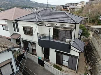 屋根 アステックペイント 遮熱サーモSi 外壁 日本ペイントパーフェクトトップで施工させていただきました。