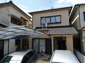 屋根・スーパー遮熱サーモSi、外壁・シリコンREVO1000で施工させていただきました。